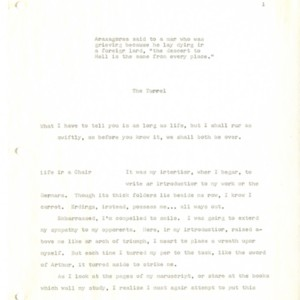First typed draft of <em>The Tunnel</em>