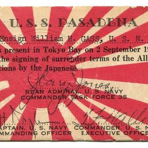 U.S.S. Pasadena wallet card souvenir