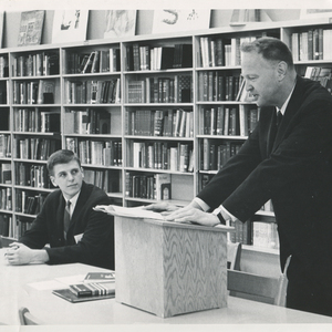 James Dickey as Phi Beta Kappa poet at Harvard University giving a reading, June 1970