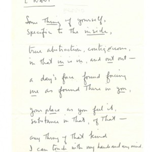 """""""I Want"""" by Robert Creeley"""