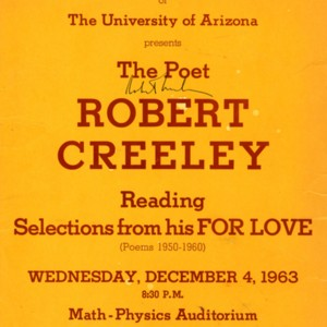 """The Poet Robert Creeley Reading Selections from his <em>For Love</em>"""