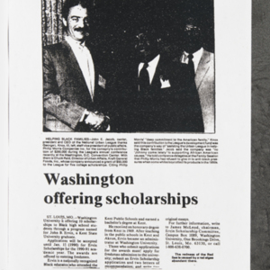"""Washington offering scholarships"""
