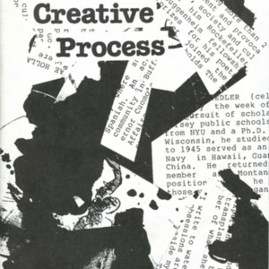 """Writer's on the Creative Process"" a discussion series sponsored by The Artists Gallery in Buffalo, New York featuring Raymond Federman, Leslie Fiedler, Endesha Ida Mae Holland, and Olga Mendell."