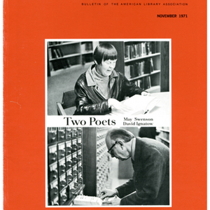 """Two Poets: May Swenson and David Ignatow"" by Rozanne Knudson from <em>American Libraries</em>, November 1971."