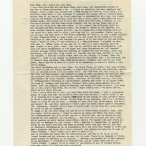 James Merrill letter to HellenIngram Merrill <br />