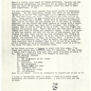 Typed letter, signed [photocopy] from Donald Finkel to Bob Herz, July 2, 1979