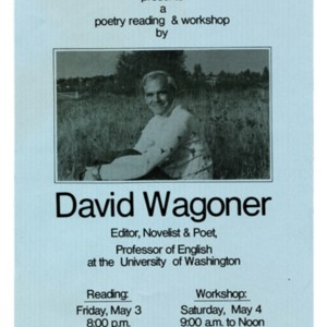 """The Humanities Department of Columbia Basin College presents a poetry reading and workshop by David Wagoner"""