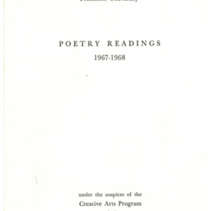 Princeton University Poetry Readings 1967-1968