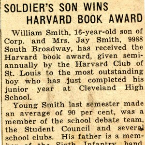 """Solder's Son Wins Harvard Book Award"""