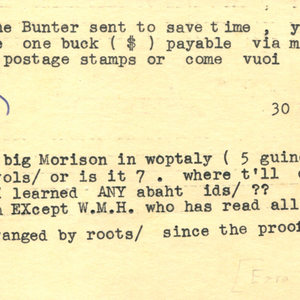 Typed card, signed from Ezra Pound to James Dickey, November 1, 1955
