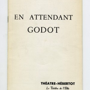 Theater Program for <em>En attendant Godot</em>