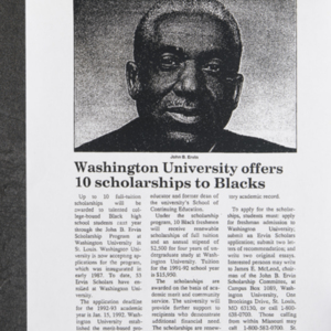"""Washington University offers 10 scholarships to Blacks"""