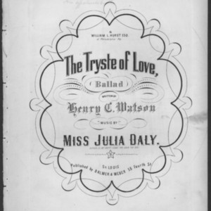 The tryste of love : ballad /