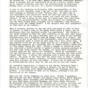 Typed letter [carbon] from Constance Urdang to Steve Wilbers, February 27, 1976