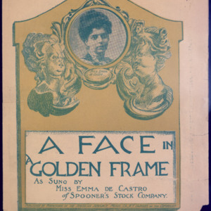 A face in a golden frame /