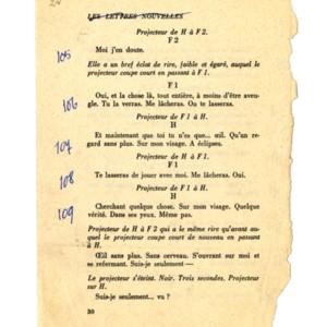 Corrected tearsheets for <em>Com&eacute;die</em>