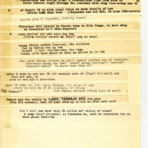 Notes toward <em>J R</em> by William Gaddis illustrating his cut-and-paste writing method