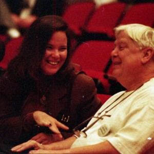 Carolyn Forché and William Gass at the Writer in Politics Conference