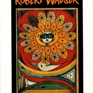 """Dust jacket for <em>""""Masquerade"""" and Other Stories</em> Robert Walser. Translated by Susan Bernofsky and foreward by William H. Gass."""