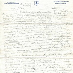 Autograph letter, signed from William H. Gass to his parents, Mr. and Mrs. William B. Gass, 1941<br />