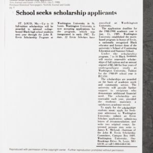 """School seeks scholarship applicants"""