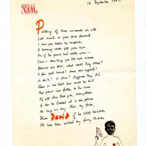 James Merrill letter to David Jackson<br />
