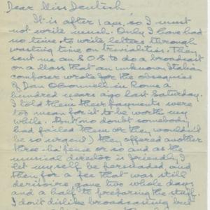 Thomas MacGreevy letter to Babette Deutsche