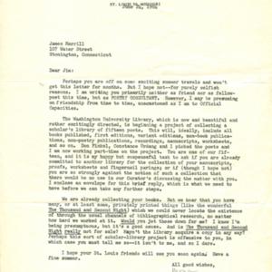 Mona Van Duyn letter to James Merrill<br />