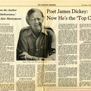 """Poet James Dickey: Now He's the 'Top Cat'"" by Paul Hendrickson from <em>The National Observer</em>, December 4, 1976"