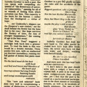 """Soundings of the Heart"" by Peter L. Simpson from the <em>St. Louis Post-Dispatch</em>, July 19, 1981"