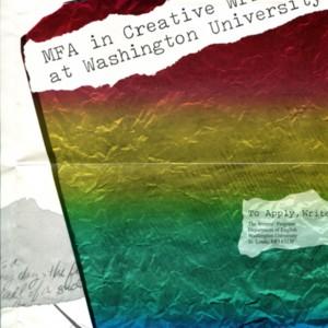 MFA in Creative Writing at Washington University brochure