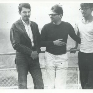 Robert Creeley with Allen Ginsburg and Peter Orlovsky