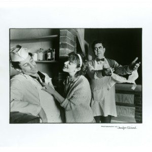 Publicity photograph of play adaptation of Stanley Elkin's <em>Criers and Kibitzers, Kibitzers and Criers</em>
