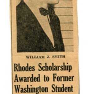 """Rhodes Scholarship Awarded to Former Washington Student,"" December 19, 1946"