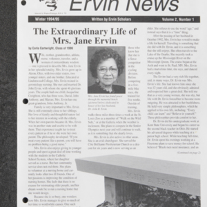 """The Extraordinary Life of Mrs. Jane Ervin"""