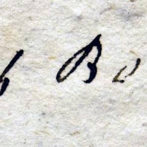 Signature of Jacob Bernays