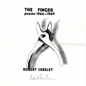 Proof of cover for Calder and Boyars edition of <em>The Finger: Poems 1966-1969</em> by Robert Creeley